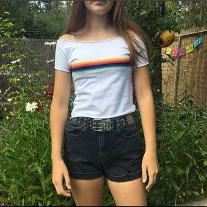 Brandy Melville Rainbow Stripe Top